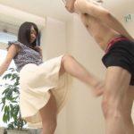 【金蹴り】エロに百戦錬磨のセクシー女優も緊張するキンタマ蹴り初体験!