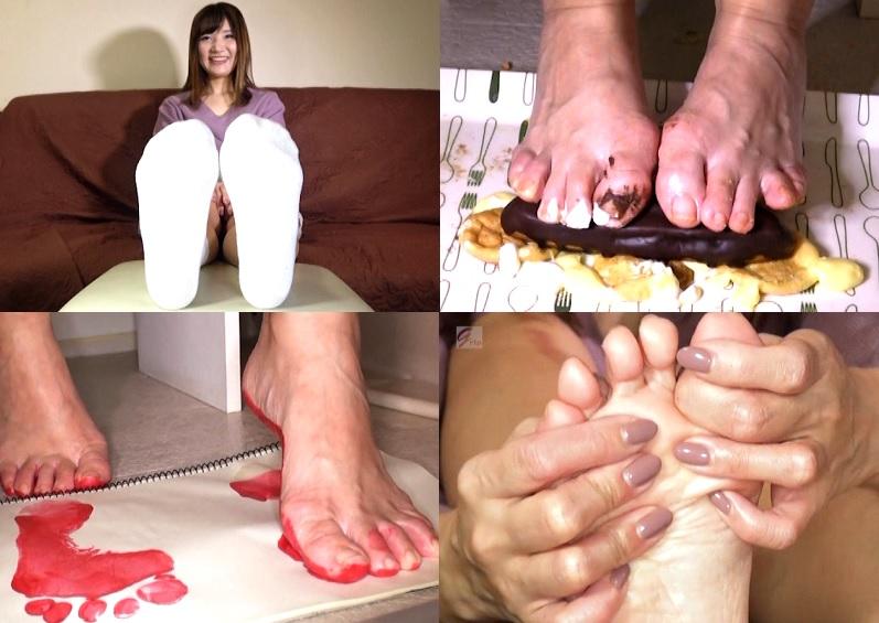 【足裏フェチ】靴下接写 生足裏視姦 匂い嗅ぎ舐め 足拓他足裏フルコース